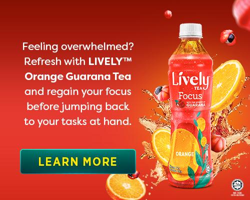 Lively Orange Guarana Tea