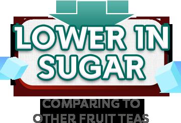 Lower in sugar